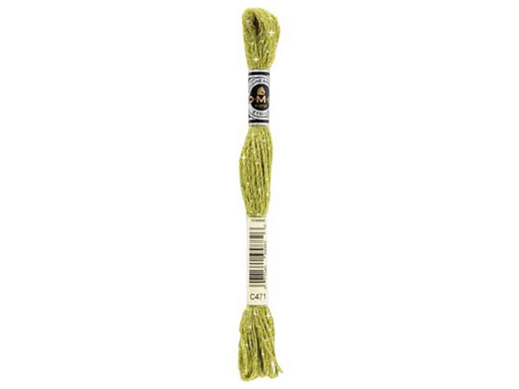DMC Embroidery Floss Etoile Six Strand Very Light Avocado Green (6 skeins)
