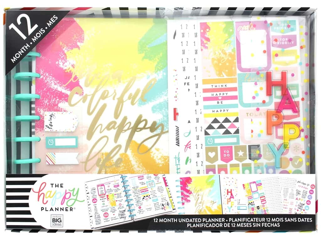 Me&My Big Ideas Happy Planner Classic Planner Box Kit Colorful Happy Life