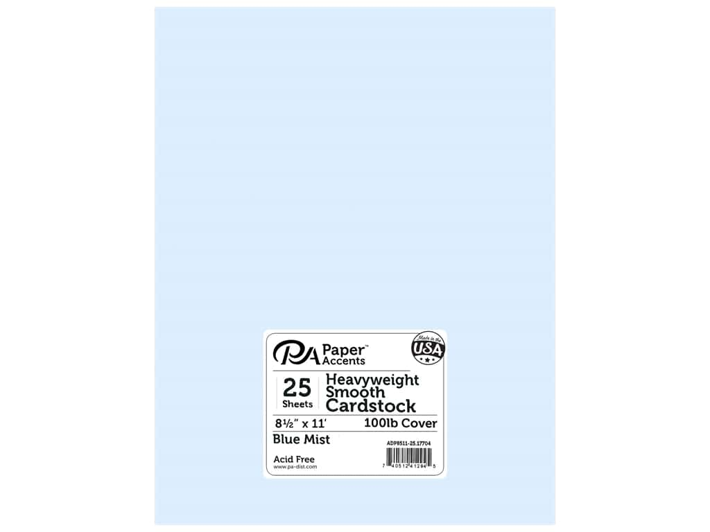 Paper Accents Cardstock 8 1/2 x 11 in. #17704 Heavyweight Smooth Blue Mist 25 pc.