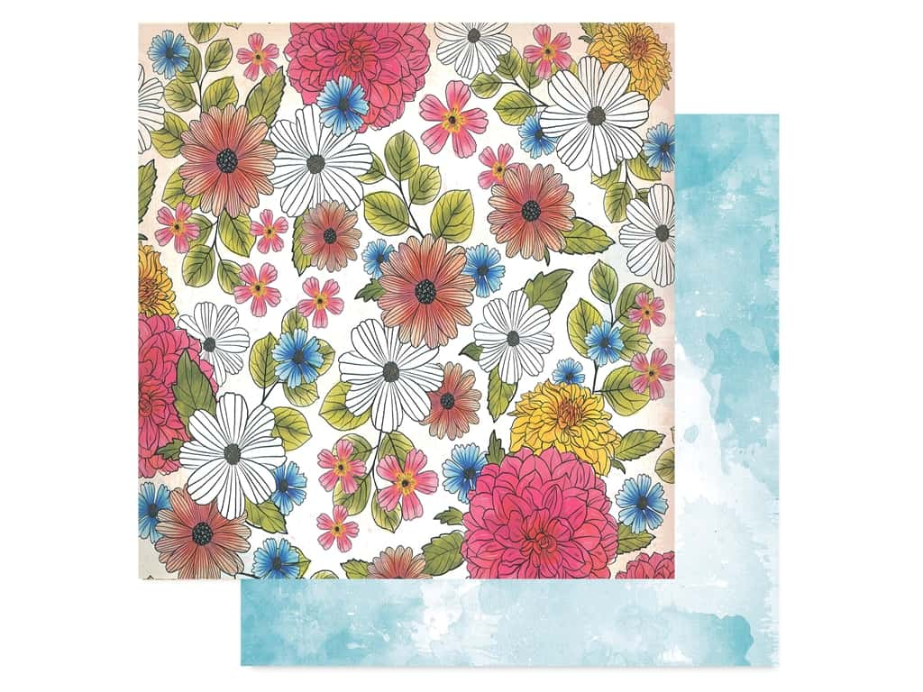 American Crafts Vicki Boutin 12 x 12 in. Paper Field Notes Among The Wildflowers (25 pieces)