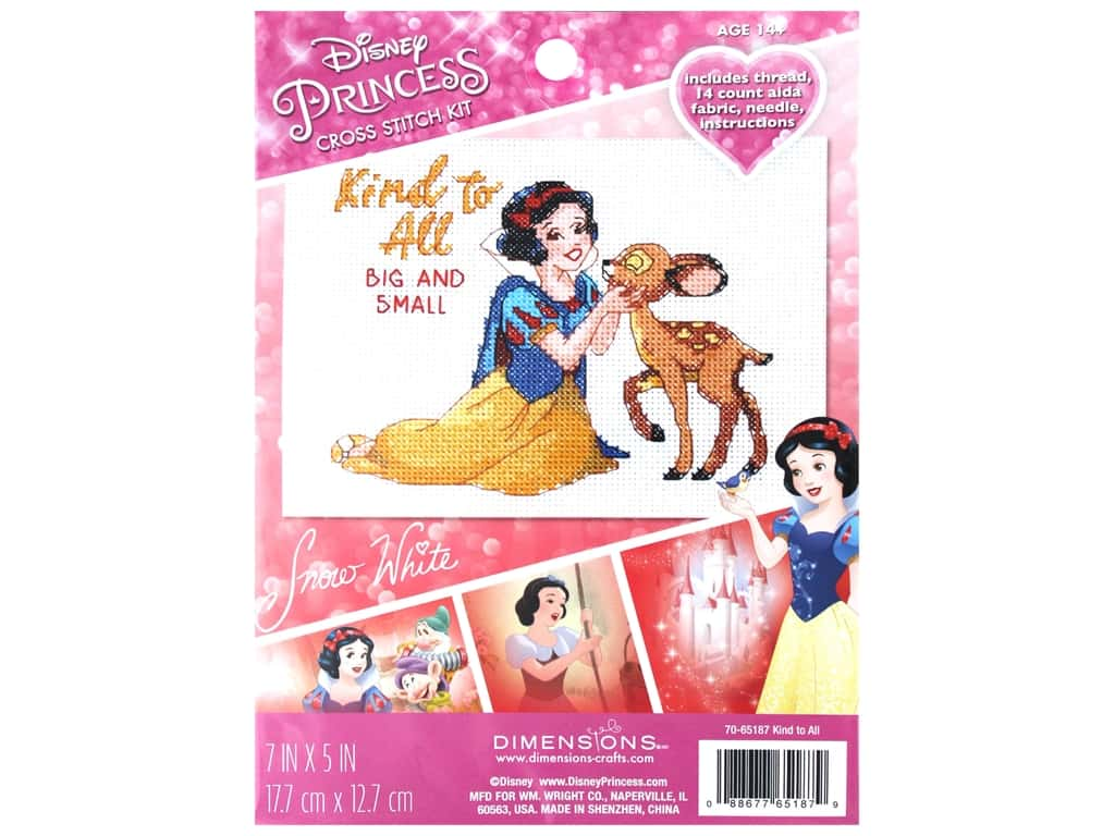 Dimensions Counted Cross Stitch Kit 7 x 5 in. Disney's Kind to All