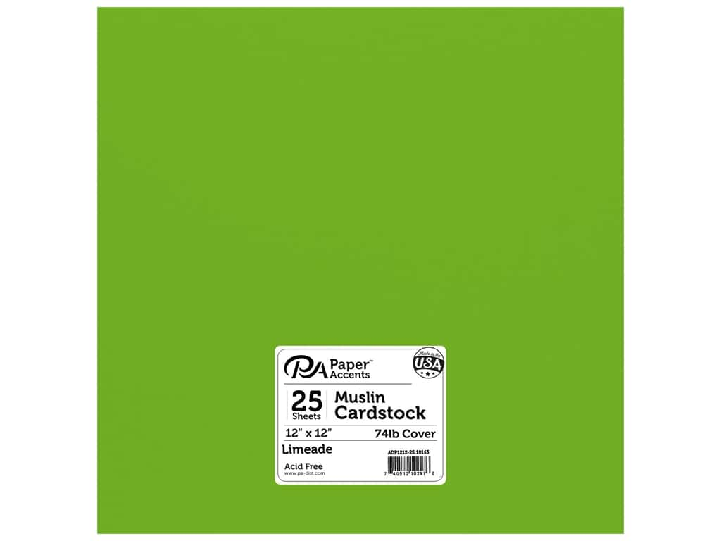 Paper Accents Cardstock 12 x 12 in. #10163 Stash Builder Textured Limeade 25 pc.