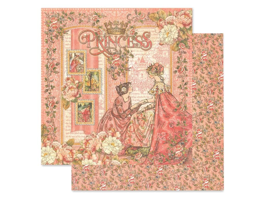 Graphic 45 Collection Princess Paper 12 in. x 12 in. Princess (25 pieces)