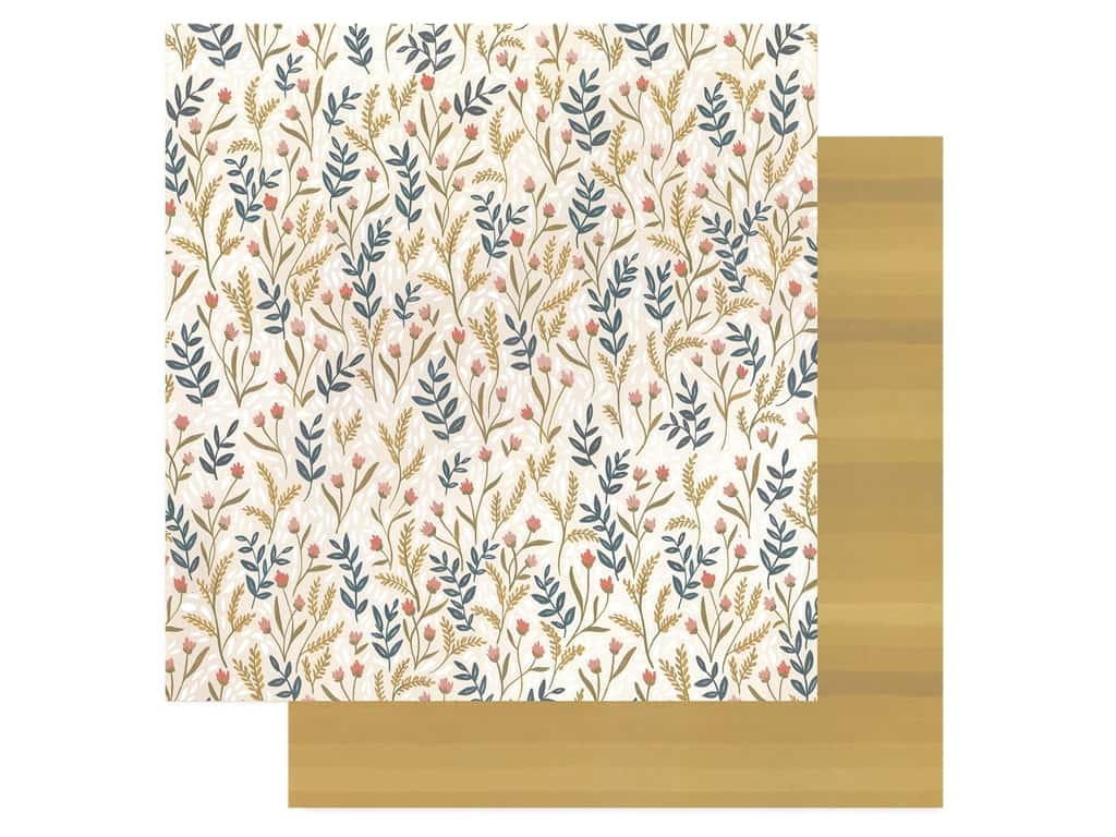 American Crafts One Canoe Two 12 x 12 in. Paper Goldenrod Meadow Floral (25 pieces)