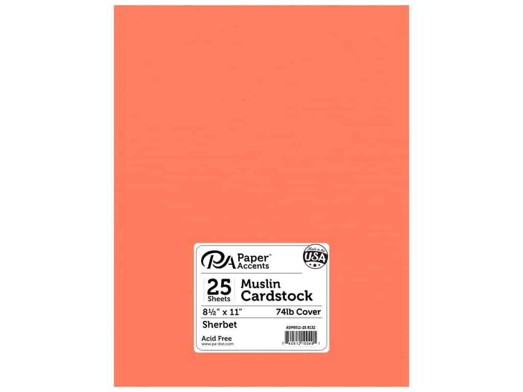 Paper Accents Cardstock 8 1/2 x 11 in. #8132 Muslin Sherbet 25 pc.
