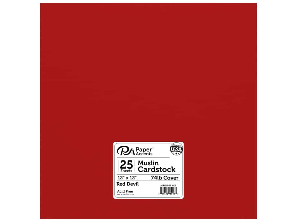 Paper Accents Cardstock 12 x 12 in. #8003 Muslin Red Devil 25 pc.
