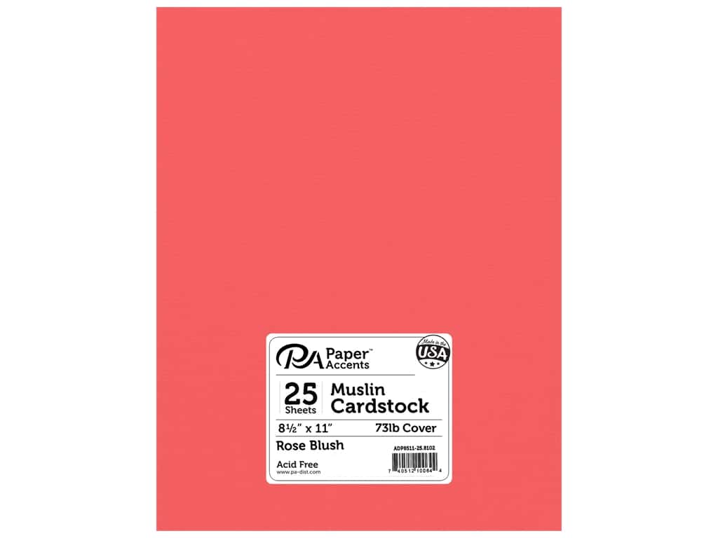 Paper Accents Cardstock 8 1/2 x 11 in. #8102 Muslin Rose Blush 25 pc.