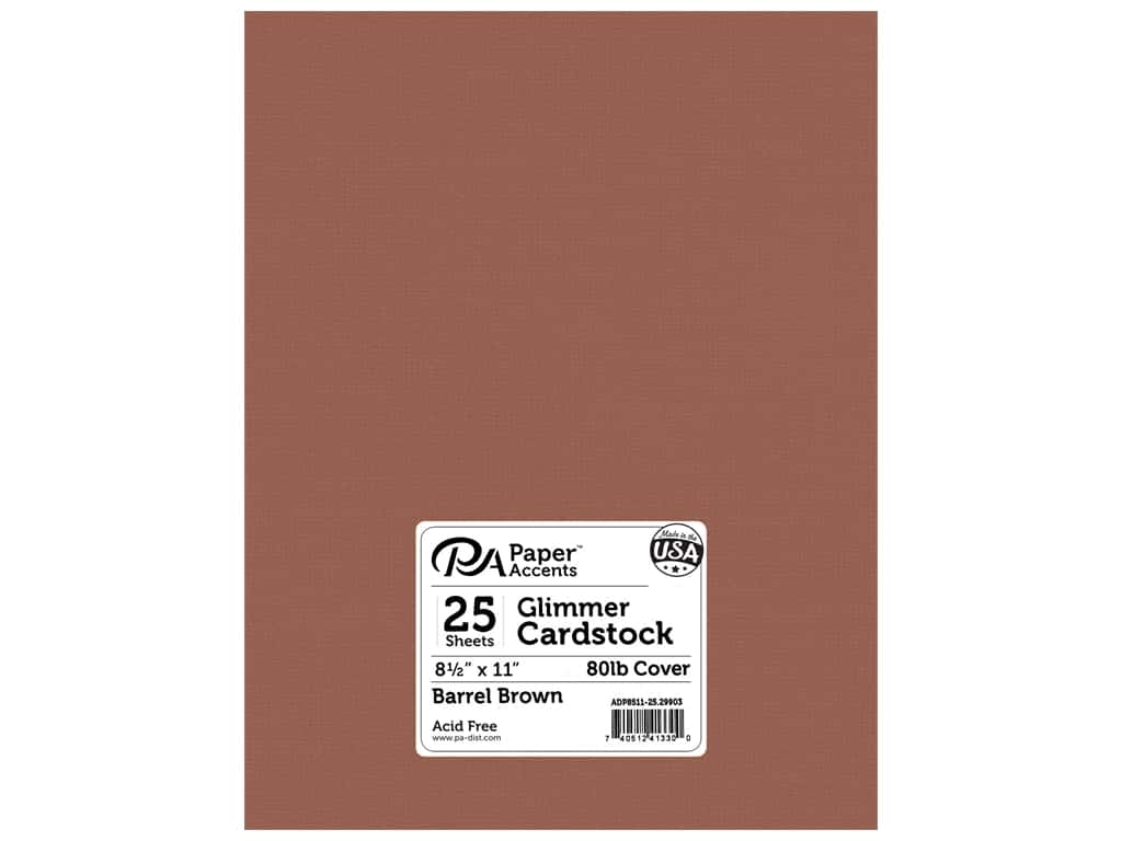 Paper Accents Cardstock 8 1/2 x 11 in. #29903 Glimmer Barrel Brown (25 sheets)