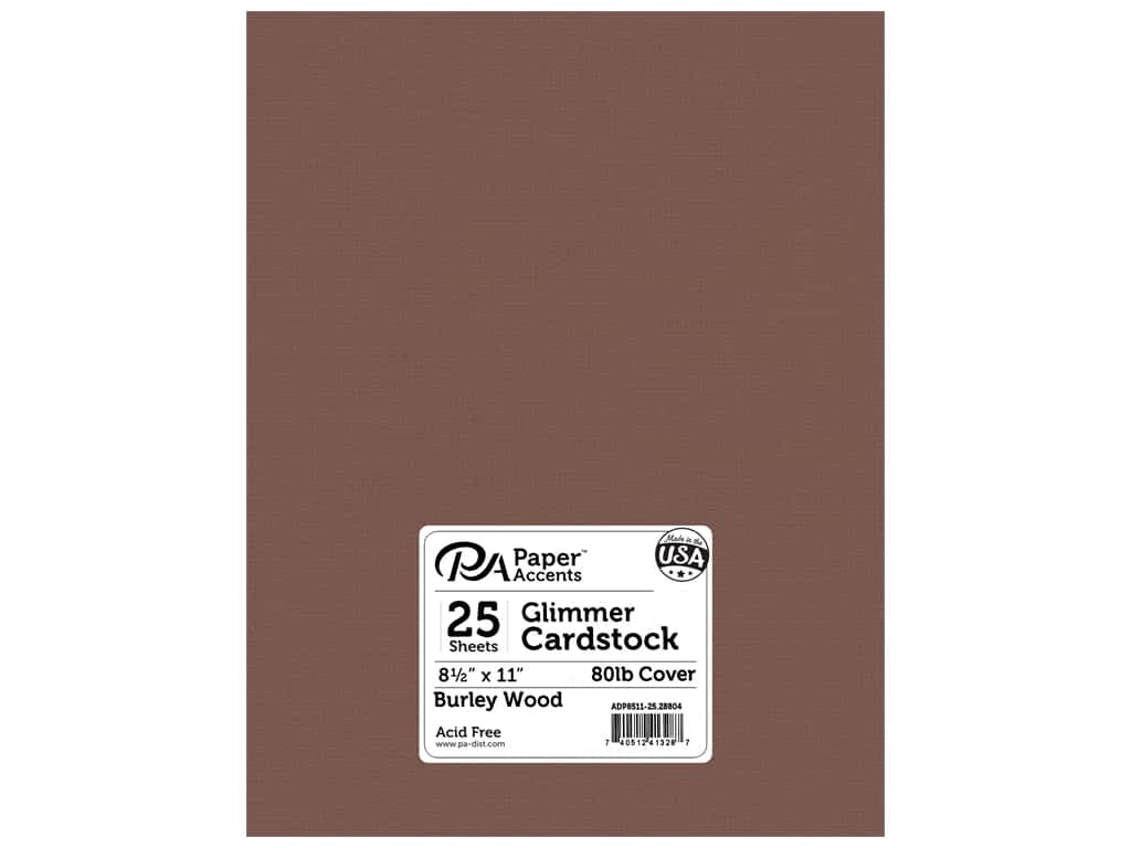 Paper Accents Cardstock 8 1/2 x 11 in. #28804 Glimmer Burley Wood 25 pc.