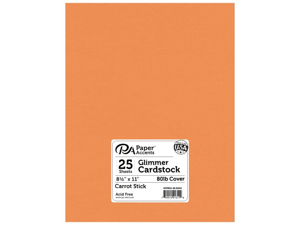Paper Accents Cardstock 8 1/2 x 11 in. #23303 Glimmer Carrot Stick 25 pc.