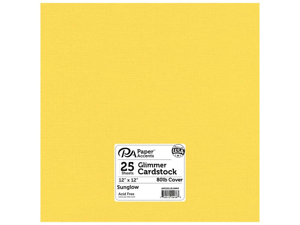 Paper Accents Cardstock 12 x 12 in. #24404 Glimmer Sunglow 25 pc.