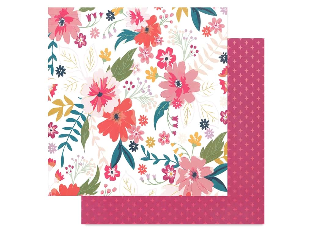 Pink Paislee Collection Whimsical 12 in. x 12 in. Paper 3 (25 pieces)