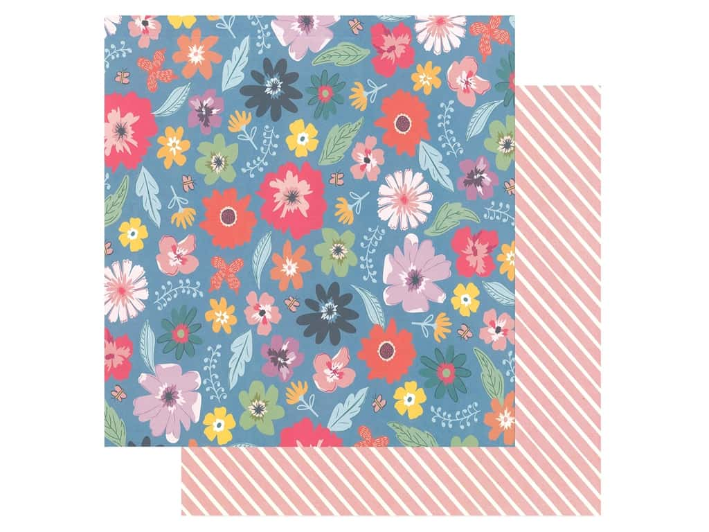 Pink Paislee Collection Whimsical 12 in. x 12 in. Paper 14 (25 pieces)