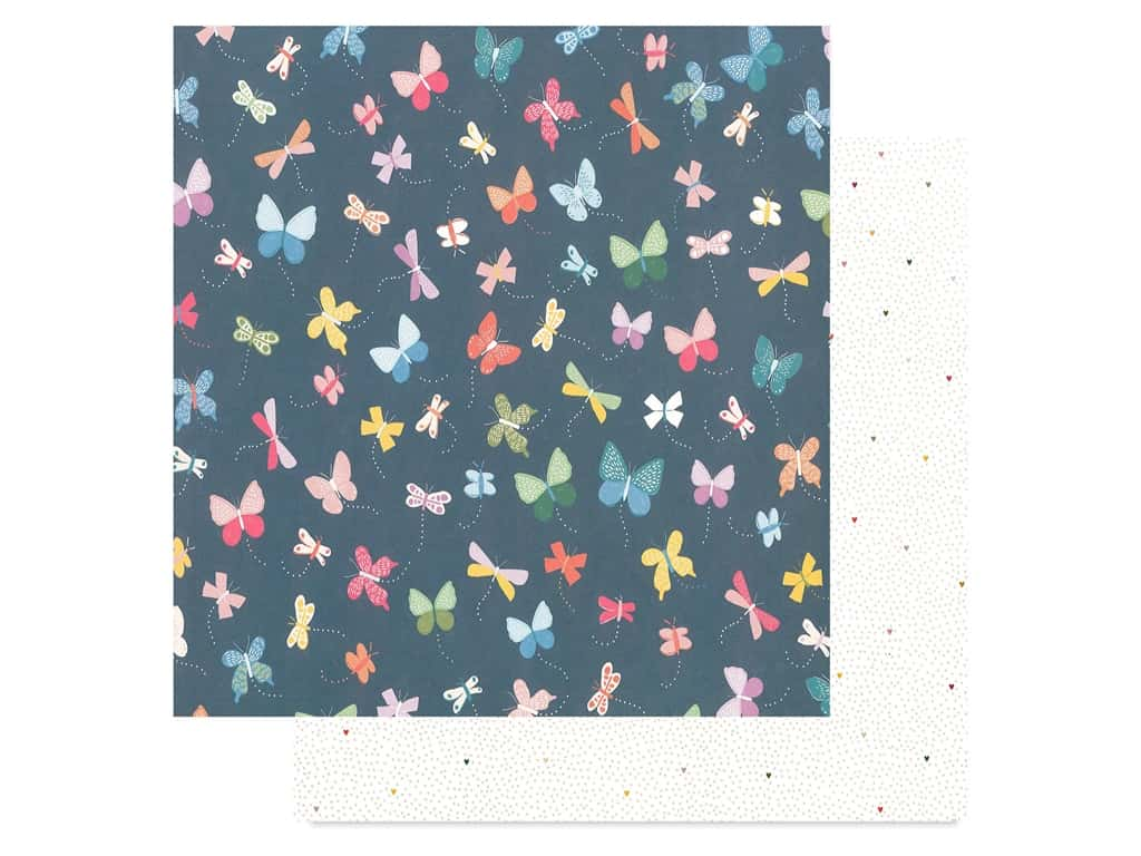 Pink Paislee Collection Whimsical 12 in. x 12 in. Paper 21 (25 pieces)