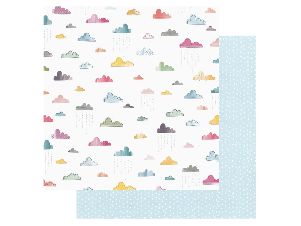 Pink Paislee Collection Whimsical 12 in. x 12 in. Paper 15 (25 pieces)