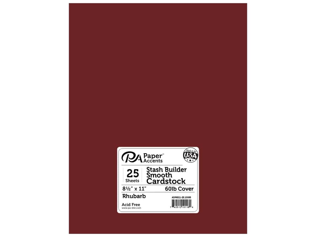Paper Accents Cardstock 8 1/2 x 11 in. #10085 Stash Builder Rhubarb 25 pc.