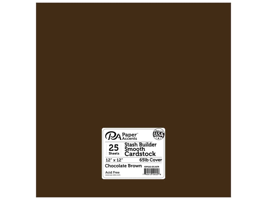 Paper Accents Cardstock 12 x 12 in. Stash Builder Chocolate Brown (25 sheets)
