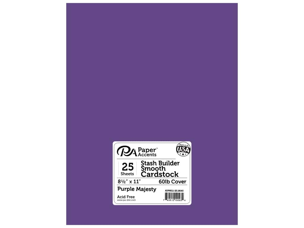 Paper Accents Cardstock 8 1/2 x 11 in. #18093 Stash Builder Purple Majesty 25 pc.