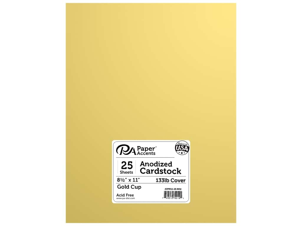 Paper Accents Anodized Cardstock 8 1/2 x 11 in. #8832 Gold Cup 25 pc.