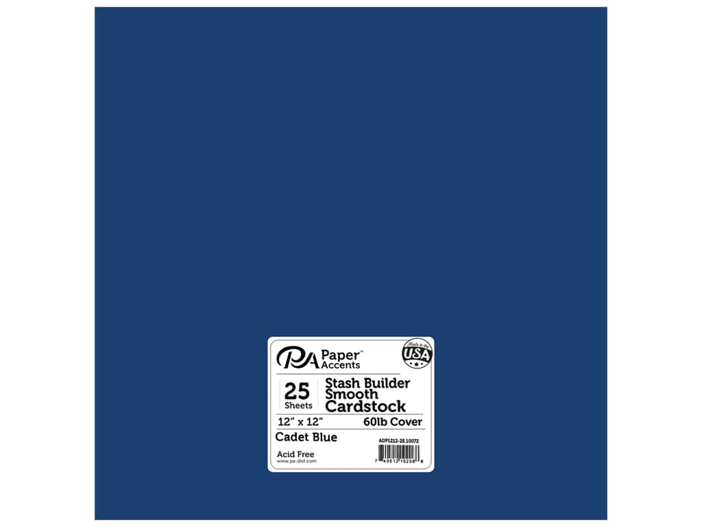 Paper Accents Cardstock 12 x 12 in. #10072 Stash Builder Cadet Blue 25 pc.