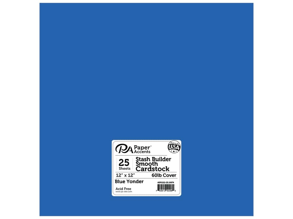 Paper Accents Cardstock 12 x 12 in. #10074 Stash Builder Blue Yonder 25 pc.