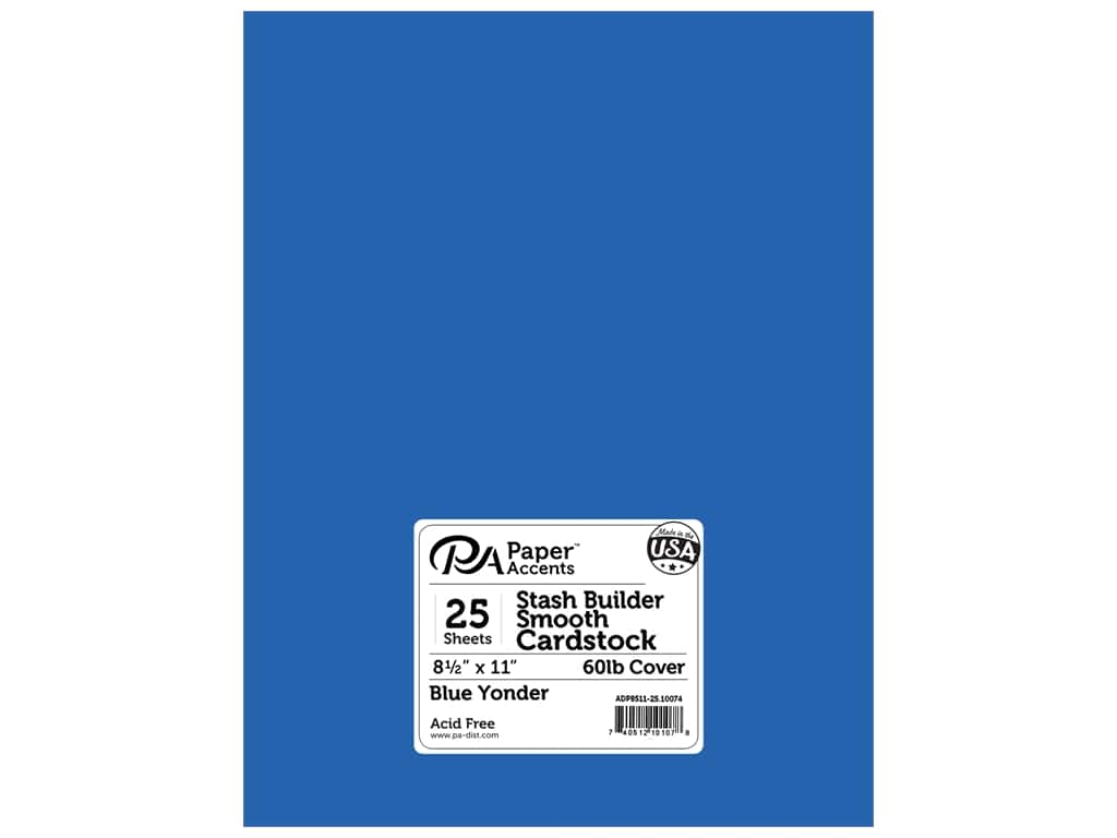 Paper Accents Cardstock 8 1/2 x 11 in. #10074 Stash Builder Blue Yonder 25 pc.