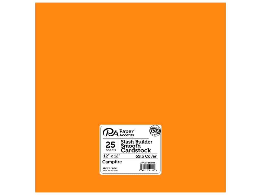 Paper Accents Cardstock 12 x 12 in. #10099 Stash Builder Campfire 25 pc.