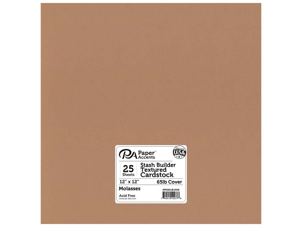 Paper Accents Cardstock 12 x 12 in. #10143 Stash Builder Textured Molasses 25 pc.