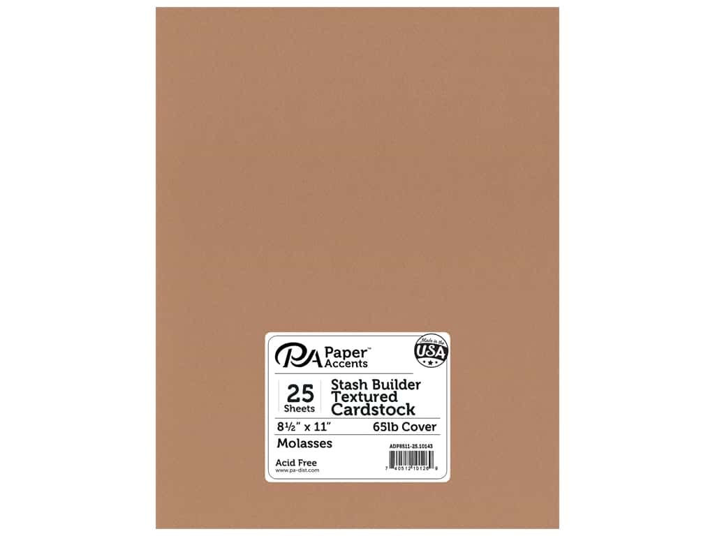 Paper Accents Cardstock 8 1/2 x 11 in. #10143 Stash Builder Textured Molasses 25 pc.