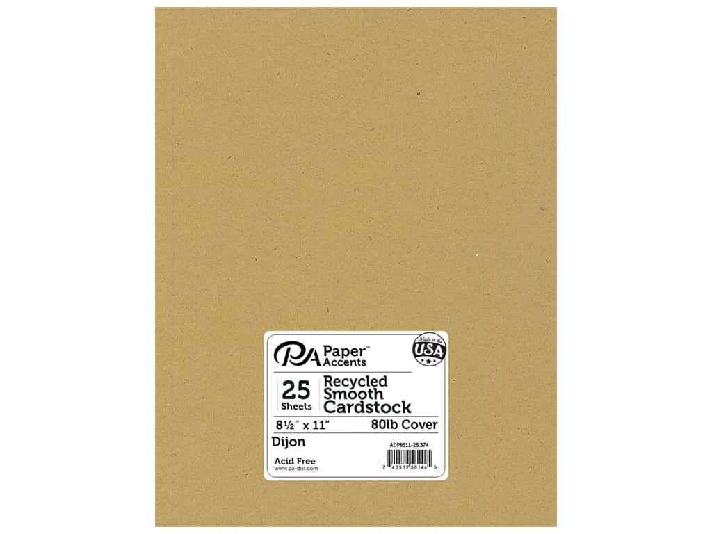 Paper Accents Cardstock 8 1/2 x 11 in. #374 Recycled Dijon 25 pc.