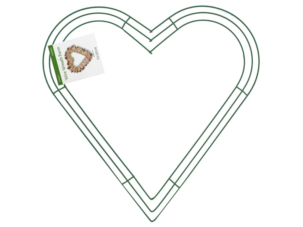 FloraCraft Wire Wreath Form 16 in. Heart