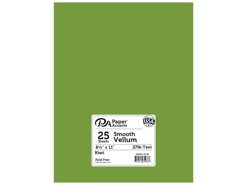 Paper Accents Vellum 8 1/2 x 11 in. #988 Kiwi 25 pc.