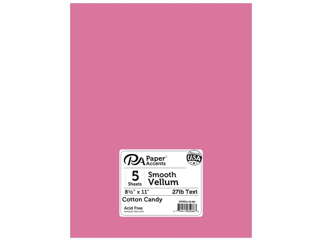 Paper Accents Vellum 8 1/2 x 11 in. #986 Cotton Candy 5 pc.