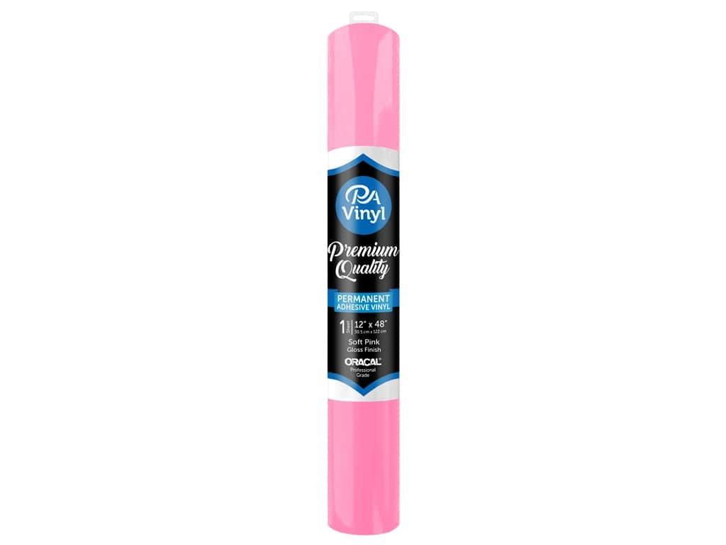 PA Adhesive Vinyl 12 x 48 in. Permanent Gloss Soft Pink