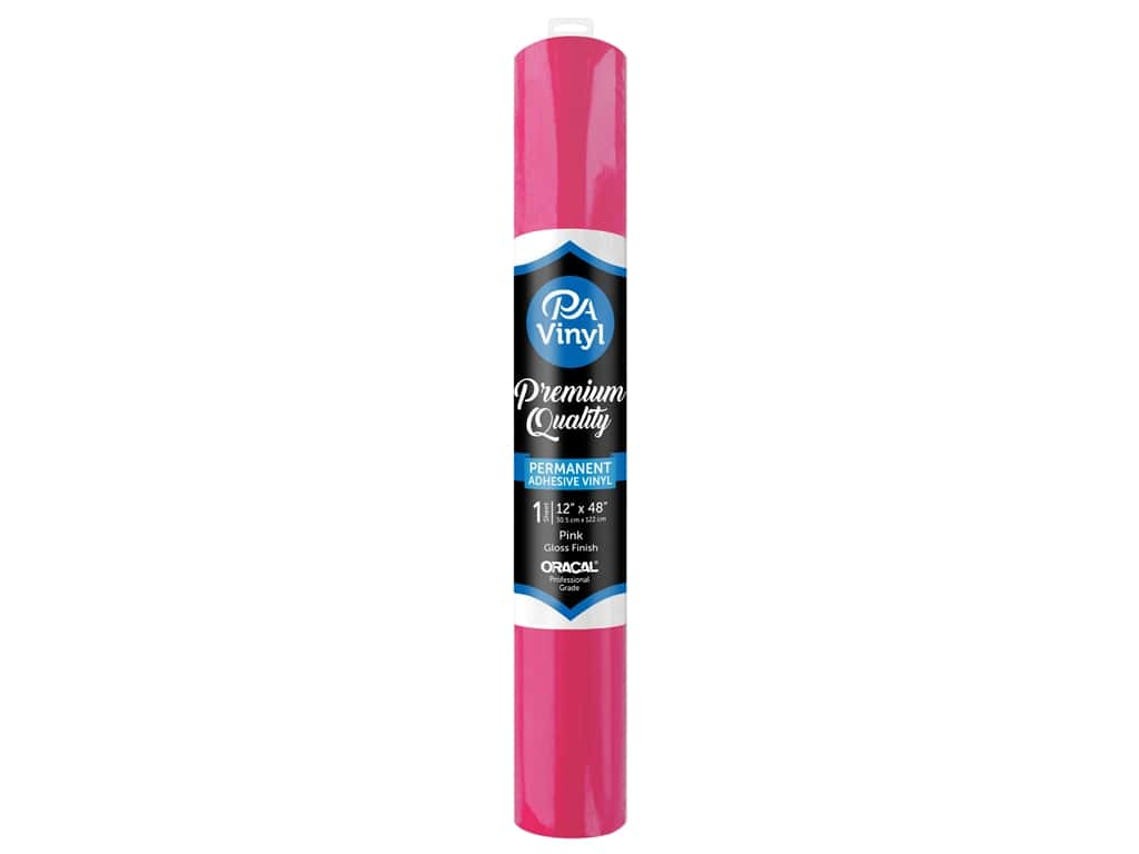 PA Adhesive Vinyl 12 x 48 in. Permanent Gloss Pink