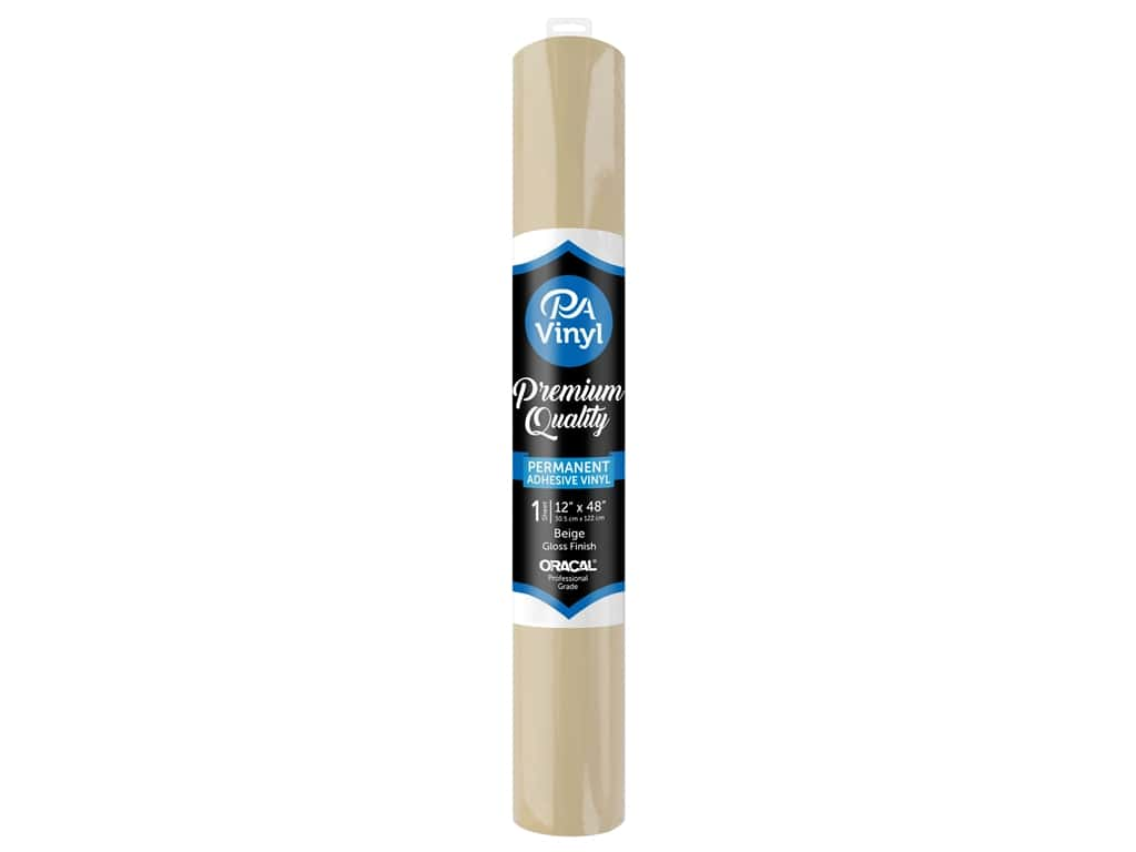 PA Adhesive Vinyl 12 x 48 in. Permanent Gloss Beige