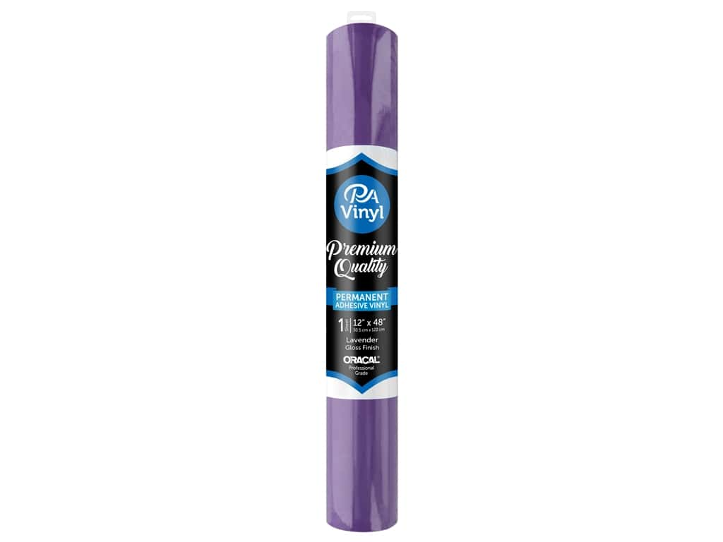 PA Adhesive Vinyl 12 x 48 in. Permanent Gloss Lavender