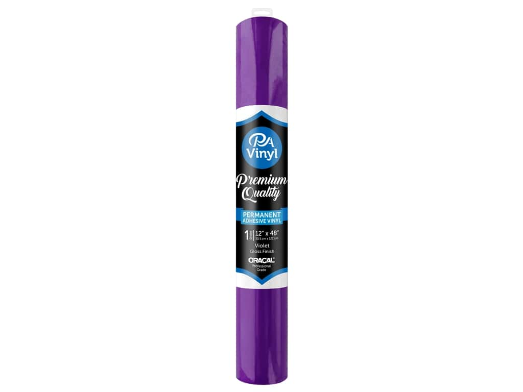 PA Adhesive Vinyl 12 x 48 in. Permanent Gloss Violet