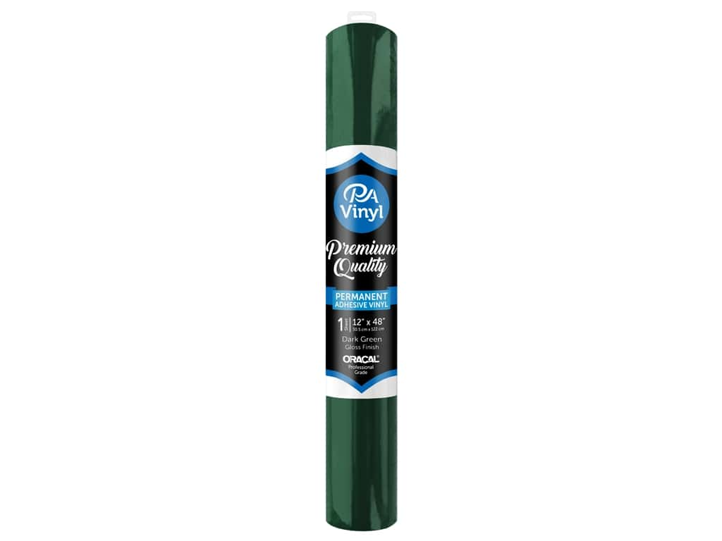PA Adhesive Vinyl 12 x 48 in. Permanent Gloss Dark Green
