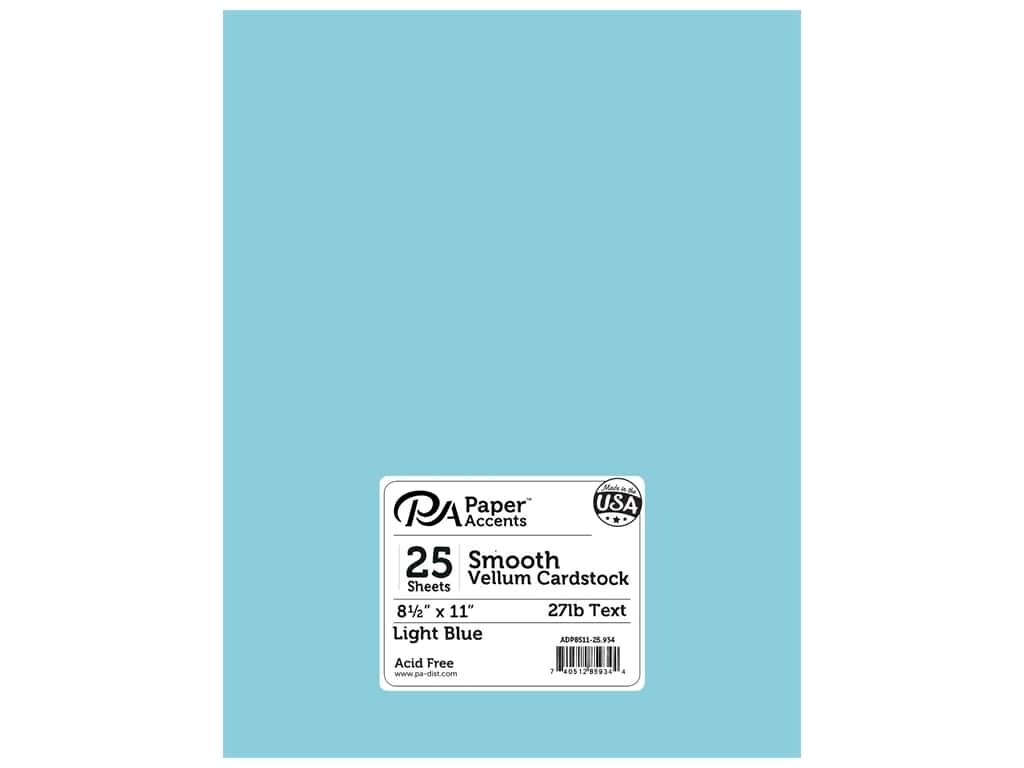 Paper Accents Vellum 8 1/2 x 11 in. #934 Light Blue (25 sheets)