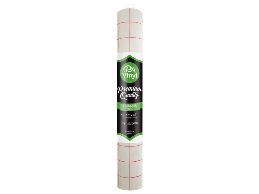 PA Adhesive Transfer Tape 12 x 48 in. Removable Translucent