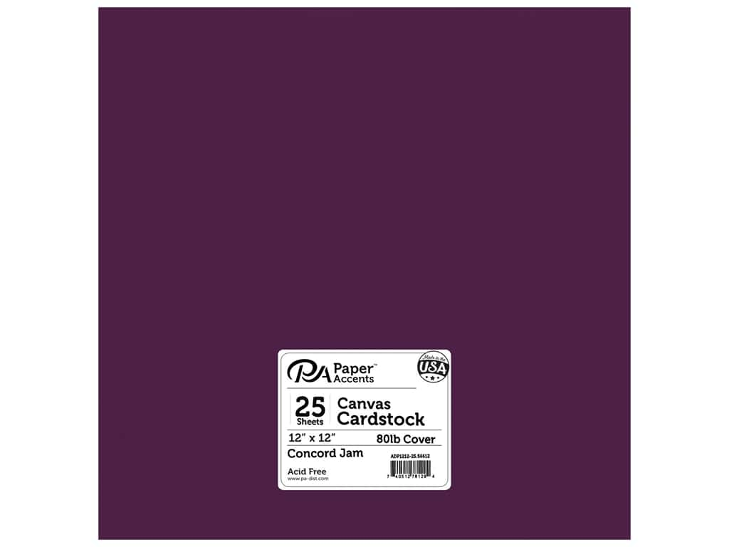 Paper Accents Cardstock 12 x 12 in. Canvas Concord Jam 25 pc.