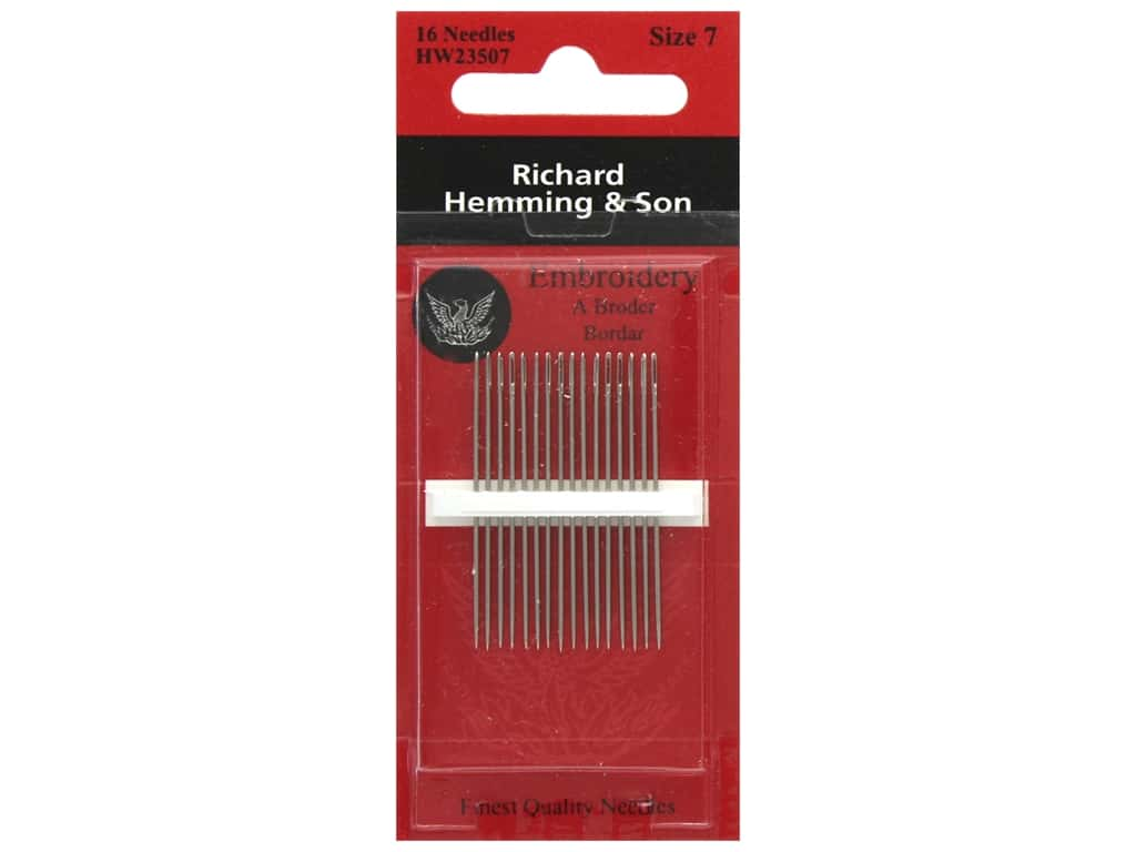 Richard Hemming Crewel/Embroidery Needles Size 7 16 pc.