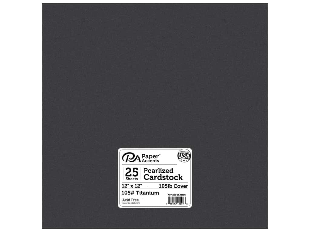 Paper Accents Cardstock 12 x 12 in. #8865C Pearlized Titanium 25 pc.