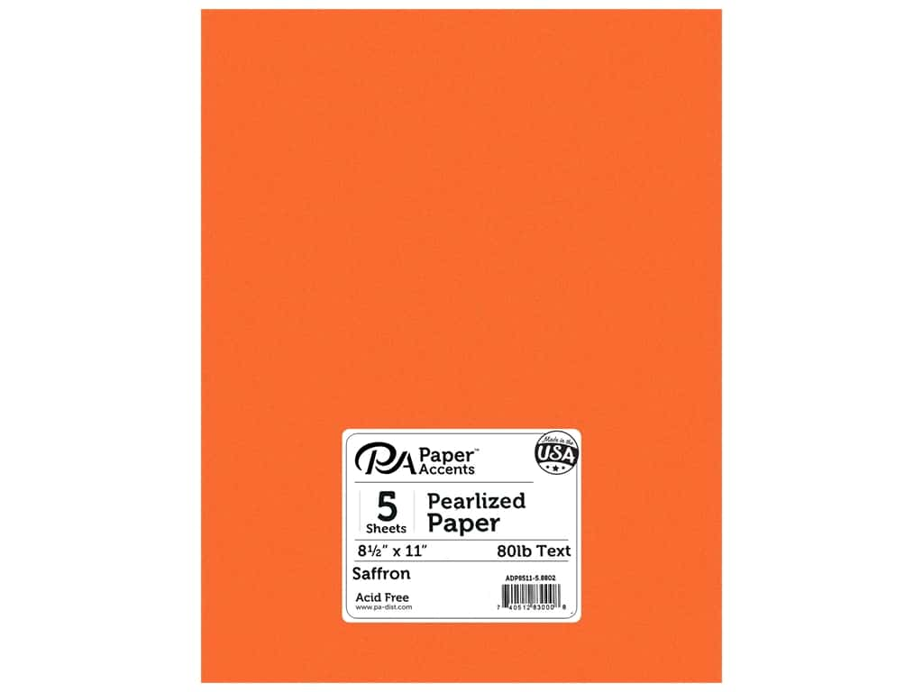 Paper Accents Pearlized Paper 8 1/2 x 11 in. #8802 Saffron 5 pc.