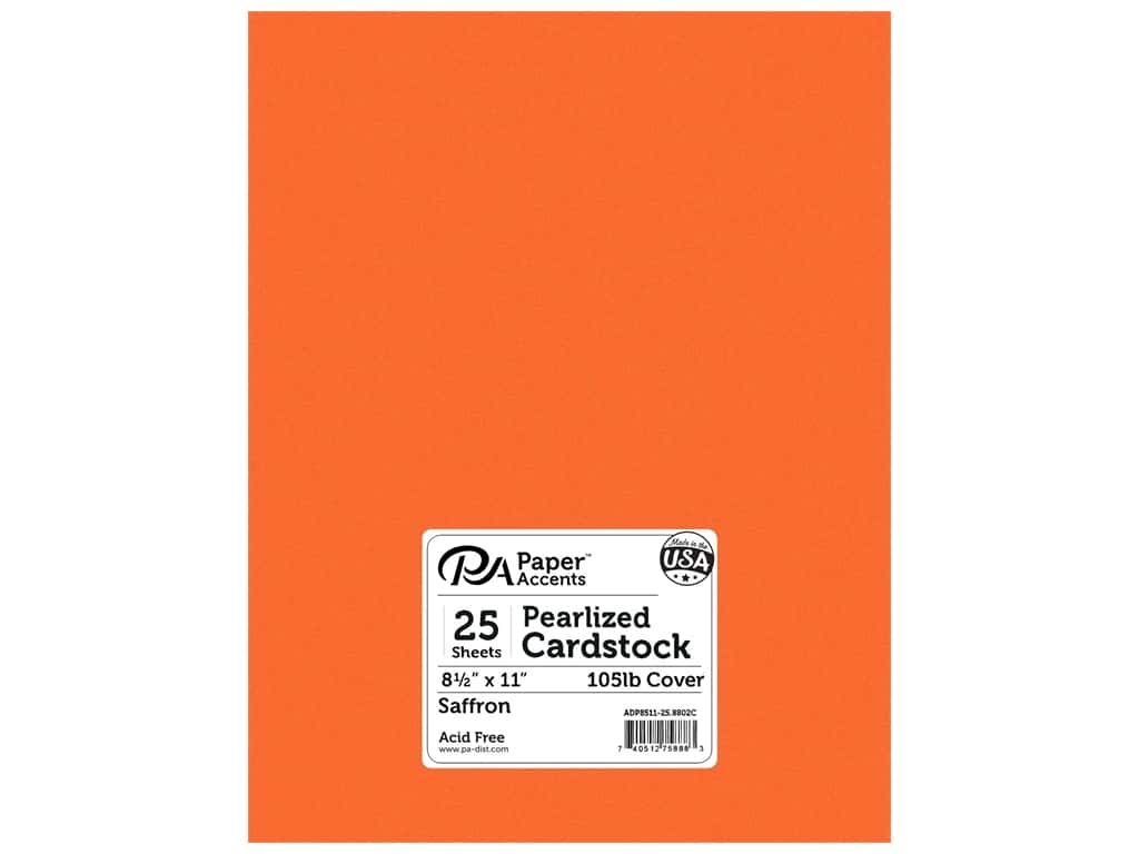 Paper Accents Cardstock 8 1/2 x 11 in. #8802C Pearlized Saffron 25 pc.
