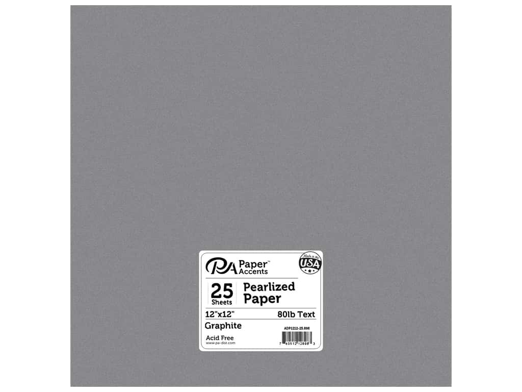 Paper Accents Pearlized Paper 12 x 12 in. #898 Graphite 25 pc.