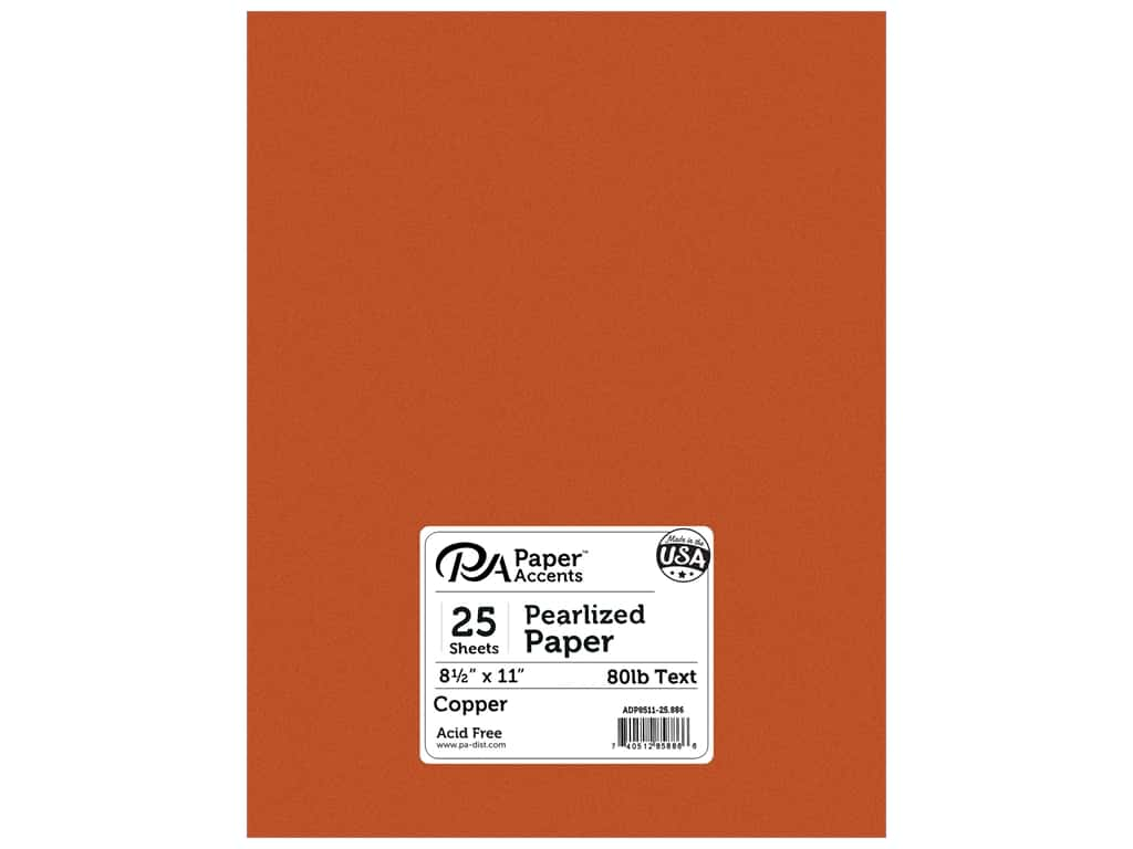 Paper Accents Pearlized Paper 8 1/2 x 11 in. #886 Copper 25 pc.