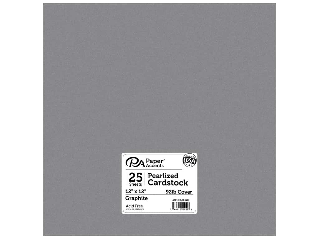 Paper Accents Cardstock 12 x 12 in. #898C Pearlized Graphite 25 pc.
