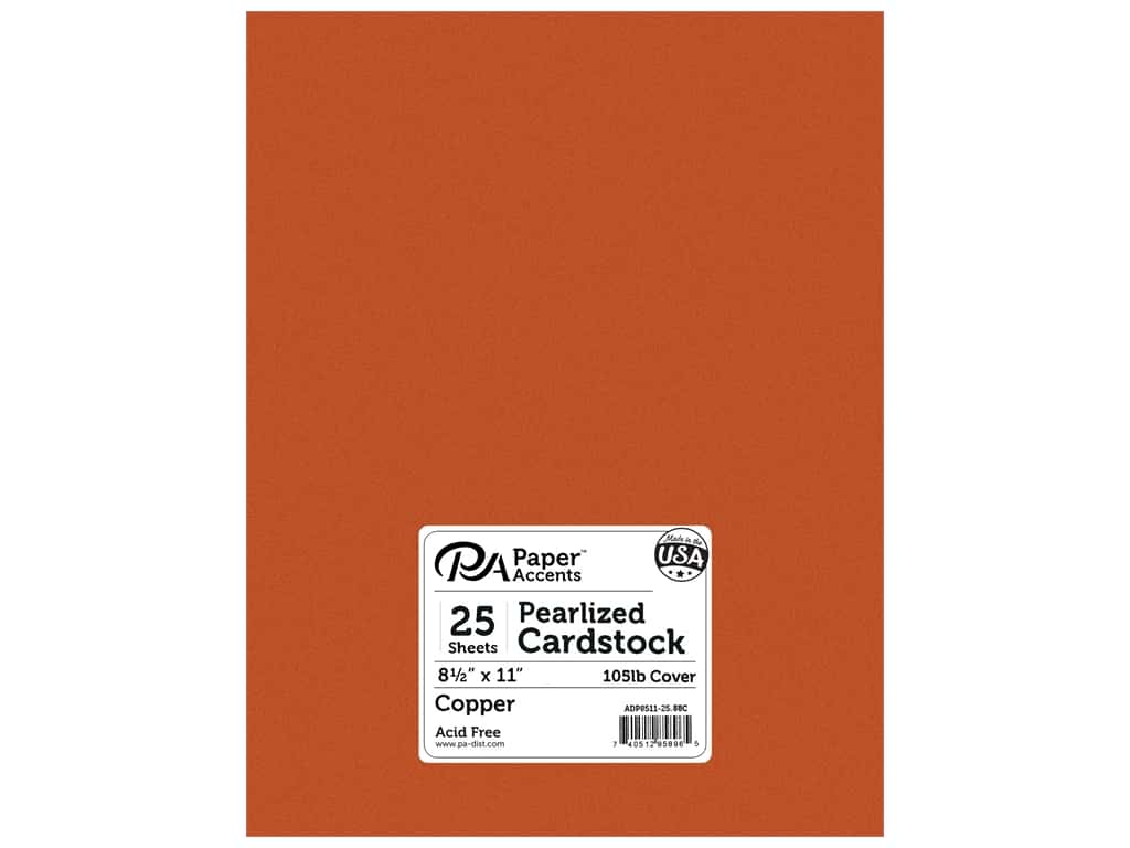 Paper Accents Cardstock 8 1/2 x 11 in. #886C Pearlized Copper 25 pc.